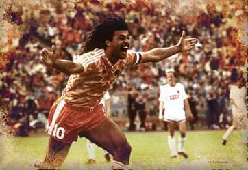 Ruud Gullit celebrating a goal
