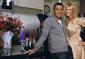 Ruud Gullit and his wife Estelle